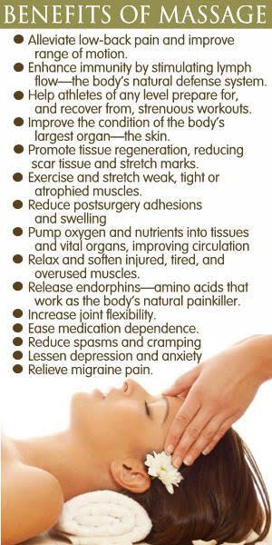 different types of massages and their benefits